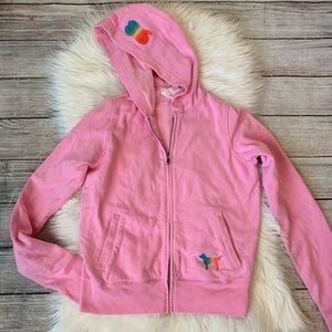 PINK Zip Hoodie Love Sand Love Sun Love Pink